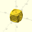 de malvoyant relief5.png Download STL file blind dice • 3D printable object, Rias3d
