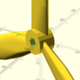 Download STL file Triple airplane propeller or wind turbine • Design to 3D print, Rias3d