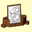 porte photo1.png Télécharger fichier STL porte photo, porte crayon coeur • Design pour impression 3D, kholas