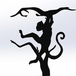 illusion singe tigre.jpg Télécharger fichier STL illusion d'optique STL DXF • Design imprimable en 3D, kholas