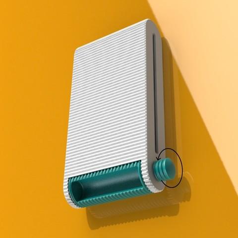 iso 3 open roller pijl.jpg Télécharger fichier STL gratuit Distributeur de tampons • Modèle pour imprimante 3D, StudioRaket
