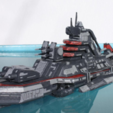 Free stl files Cybran T2 Destroyer - Salem Class, Steyrc