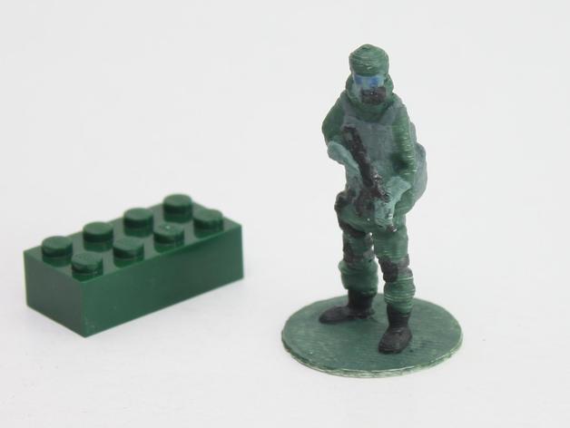Gas_soldier_preview_featured.jpg Télécharger fichier STL gratuit Soldat de masque à gaz sur le stand • Design imprimable en 3D, Steyrc