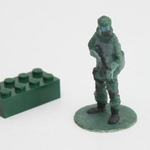 Download free 3D printer files  Gas mask soldier on stand, Steyrc