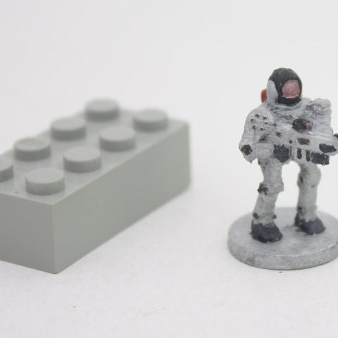 Download free 3D print files Robot with gun (18mm scale), Steyrc