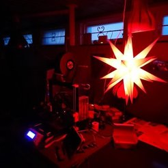 Free 3D printer designs Detachable Ikosaeder Xmas Star, MatsErik