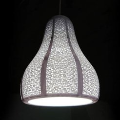 Download free 3D printing designs Lamp Shade with Visible Gyroid Infill, MatsErik