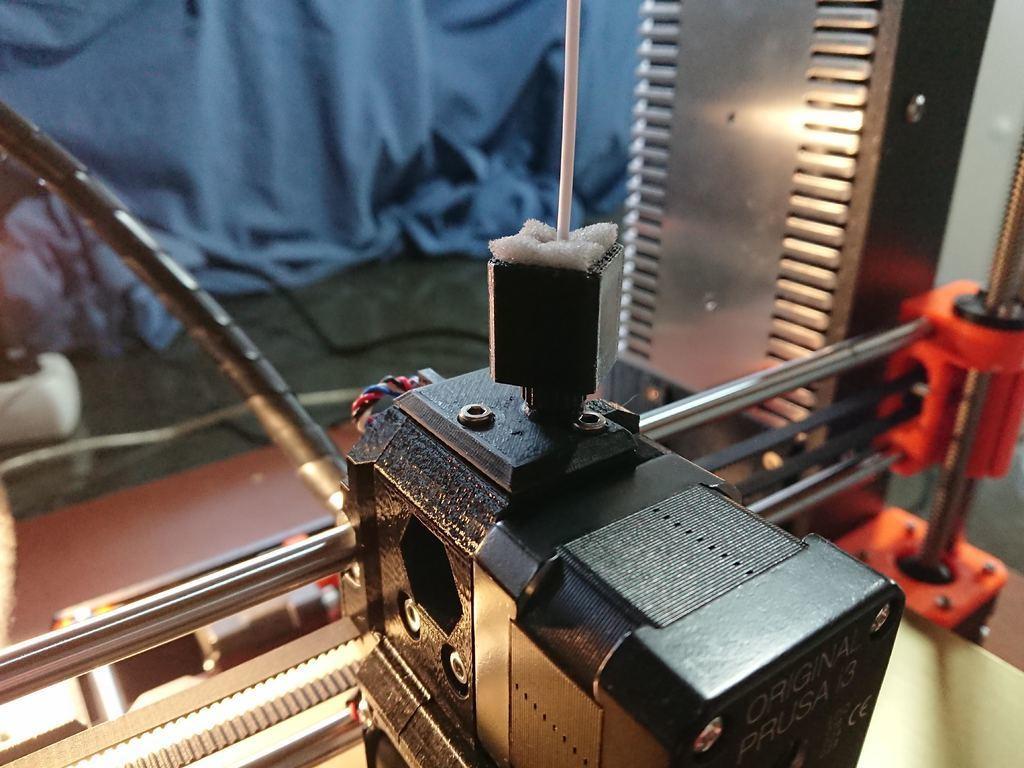 162304efe52ccf4bb21dd03900fa974a_display_large.JPG Télécharger fichier STL gratuit Prusa MK3 Couvercle du capteur à filament Couvercle du capteur Prusa avec boîtier dépoussiéreur • Modèle pour impression 3D, MatsErik