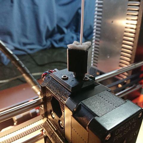 Télécharger fichier STL gratuit Prusa MK3 Couvercle du capteur à filament Couvercle du capteur Prusa avec boîtier dépoussiéreur, MatsErik