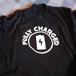 Objet 3D gratuit T-shirt Fully Charged, MatsErik