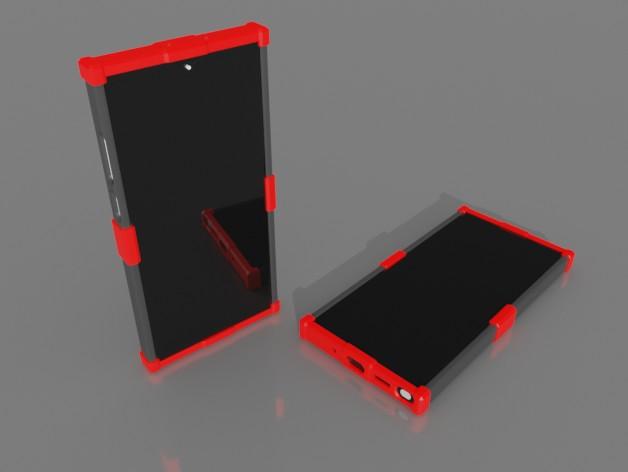 untitled.jpg Télécharger fichier STL gratuit Samsung Galaxy Note 10+ Couverture pour usage intensif • Design pour imprimante 3D, MatsErik