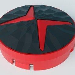 Download free STL files Polestar replacement hub cap, MatsErik