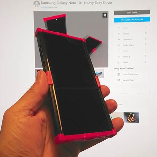 DSC_0002.JPG Télécharger fichier STL gratuit Samsung Galaxy Note 10+ Couverture pour usage intensif • Design pour imprimante 3D, MatsErik