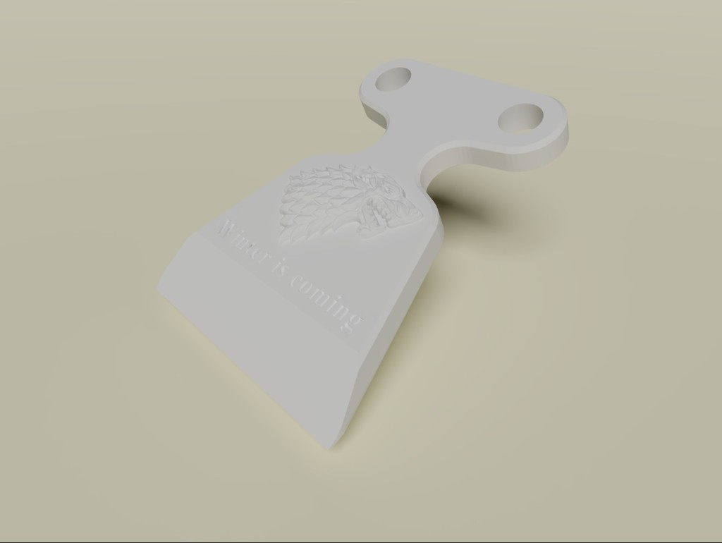 d122b86b19b0b2f7b6a542c74592e669_display_large.jpg Download free STL file Winter is Coming Ice Scraper • Object to 3D print, MatsErik