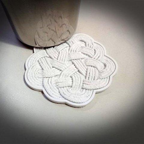 Download free 3D printer designs Rope Rug Coaster, MatsErik