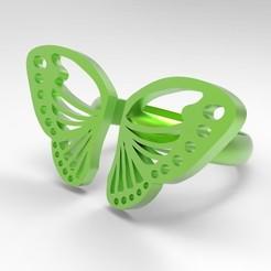 Télécharger fichier impression 3D gratuit Bague de papillons, DIReyes290