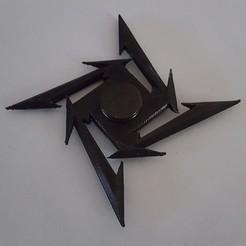 Imprimir en 3D gratis Metallica Ninja Star Fidget Spinner, TheJimReaper