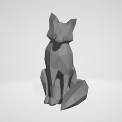 Impresiones 3D fox low poly, ckrunck