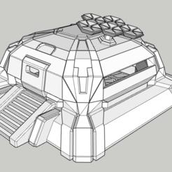 Sans titre.png Download STL file Bunker terran warhammer or others • 3D print design, ckrunck
