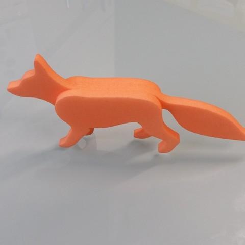20170127_150445.jpg Download STL file FoxPeace - Fox 3D / 3 layers • 3D print template, Hammed