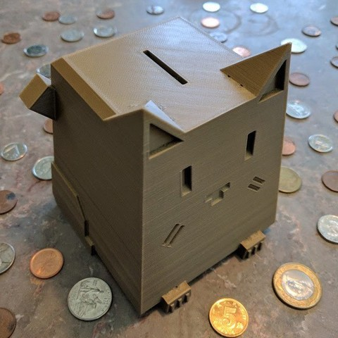 Free 3D printer designs Fat Cat Bank , Sparrows89