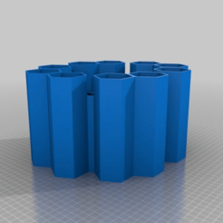 Download free STL file Pen Holder Honeycomb • 3D printable template, PedroSchamann