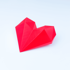 Télécharger plan imprimante 3D gatuit Polygon Heart, antoine_taillandier_studio