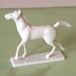 3D printer models Napoleonic figures 40mm Horse in trot (2), Rio31