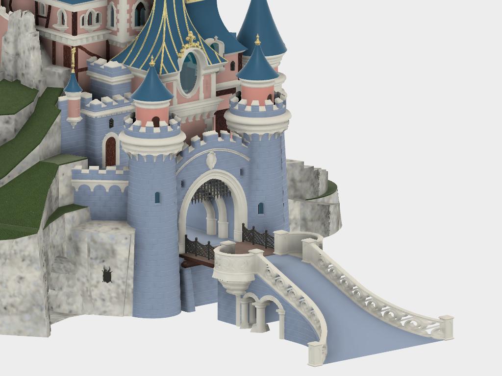 Accès principal.png Download free STL file Chateau Disneyland Paris with Prusa MK2S MMU (Ed2) • 3D print model, Rio31