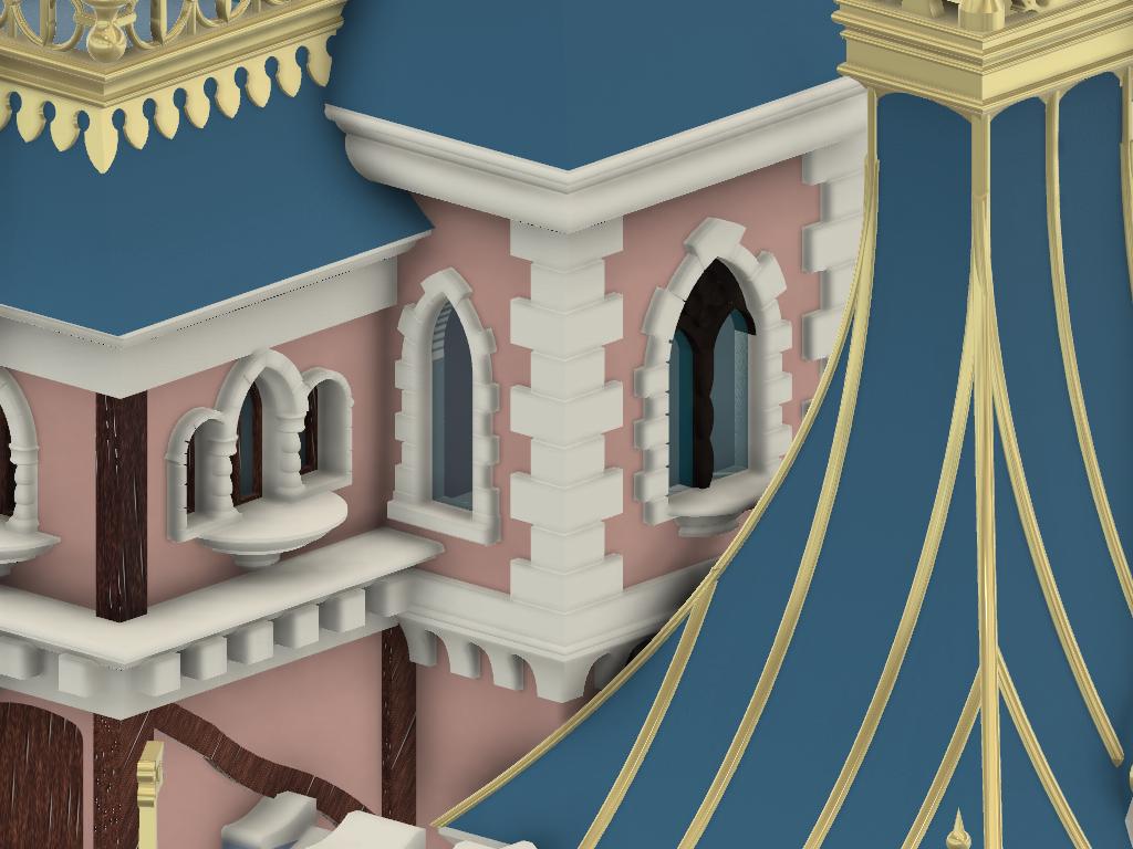 Details_4.png Download free STL file Chateau Disneyland Paris with Prusa MK2S MMU (Ed2) • 3D print model, Rio31