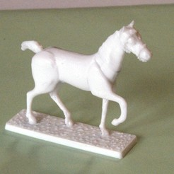 3D printing model Napoleonic figures 40mm Horse in step (3), Rio31