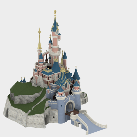 Chateau v25.png Download free STL file Chateau Disneyland Paris with Prusa MK2S MMU (Ed2) • 3D print model, Rio31