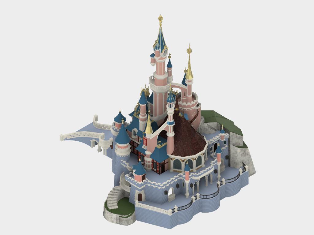 Chateau v25_2.png Download free STL file Chateau Disneyland Paris with Prusa MK2S MMU (Ed2) • 3D print model, Rio31