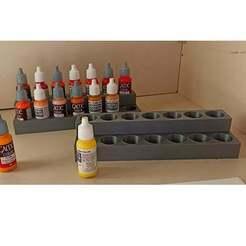 1606139583719.jpg Télécharger fichier STL gratuit Support de pots de peinture maquette • Design à imprimer en 3D, Rio31