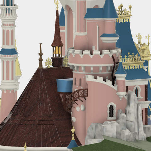 Details_1.png Download free STL file Chateau Disneyland Paris with Prusa MK2S MMU (Ed2) • 3D print model, Rio31