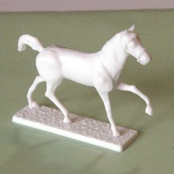 3D printer models Napoleonic figures 40mm Long trotting horse, Rio31