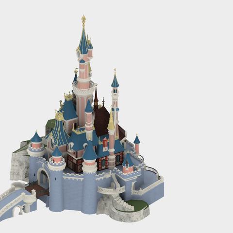 Chateau v25_1.png Download free STL file Chateau Disneyland Paris with Prusa MK2S MMU (Ed2) • 3D print model, Rio31