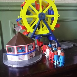 3D print files Large wheel on Playmobil scale, Rio31