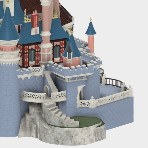 Jardinet.png Download free STL file Chateau Disneyland Paris with Prusa MK2S MMU (Ed2) • 3D print model, Rio31