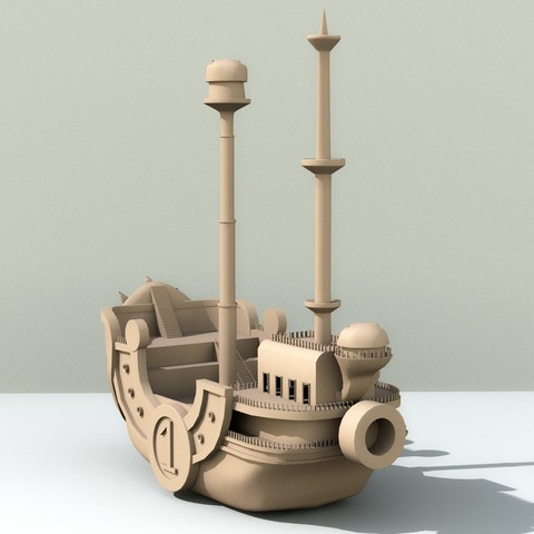 Download 3D printer designs Boat Thousand sunny One piece, edgehug