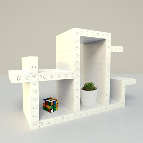 model2.jpg Download free OBJ file Furniture puzzle • 3D printable object, edgehug