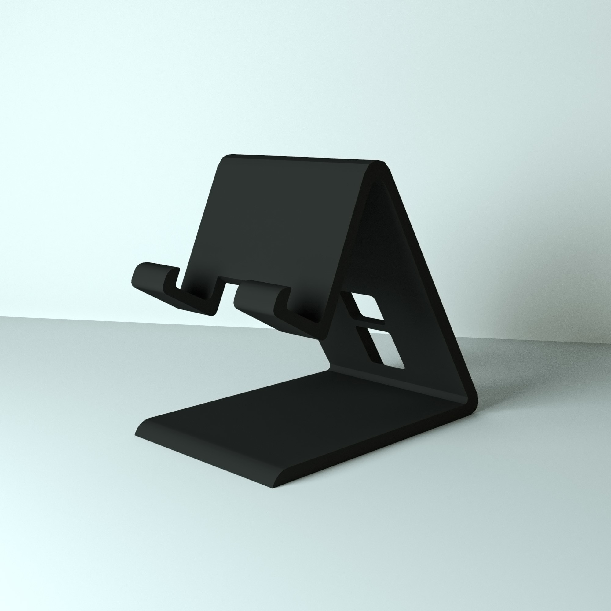 model_haut.jpg Download free OBJ file Support for smartphone • 3D print design, edgehug