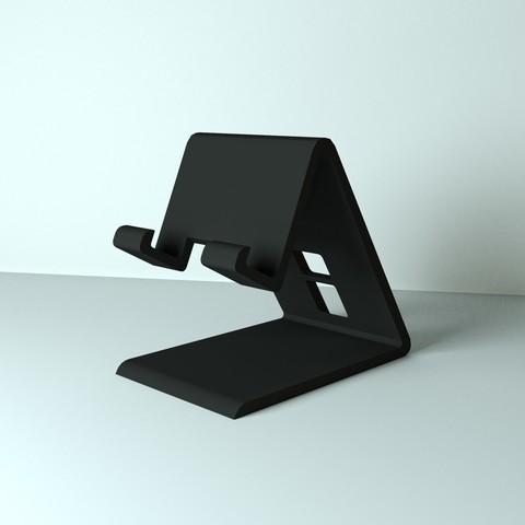 Télécharger plan imprimante 3D gatuit support pour smartphone, edgehug
