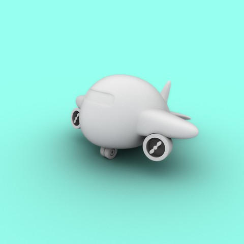 The plump plane STL file, edgehug