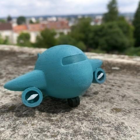 Télécharger plan imprimante 3D L'avion dodu, edgehug