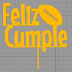 Download 3D printing files Topper Happy Birthday Rugby, Chapu