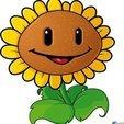 pvsz girasol.jpg Download STL file Plants vs Zombies Sunflower cookie cutter • 3D print template, Chapu