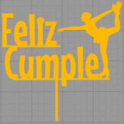 Télécharger fichier impression 3D Topper gâteau d'anniversaire, Chapu