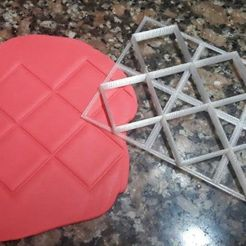 Download 3D printer templates Rhombus capitone marker, Chapu