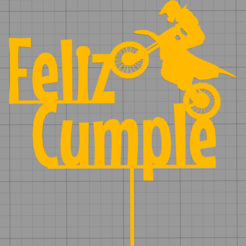 Download STL Topper happy birthday cake, Chapu